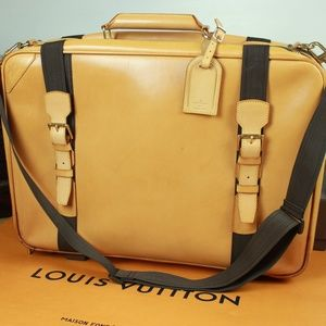LOUIS VUITTON Leather Suitcase Luggage Travel Bag